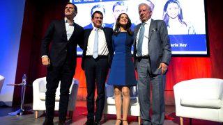Rivera, Valls, Arrimadas y Vargas Llosa en el acto de Ciudadanos (Foto: Efe).