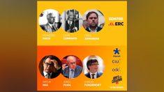 ERC presume de encarcelados frente a los corruptos Pujol y Mas