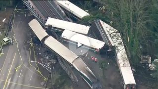 Accidente de tren en Tacoma (Washington, EEUU).