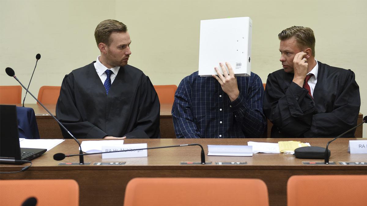 Sascha L durante el juicio (Foto: AFP)
