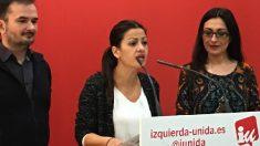 Ángel Guillén, Sira Rego y Sol Sánchez este lunes en rueda de prensa. (Foto: OKDIARIO)