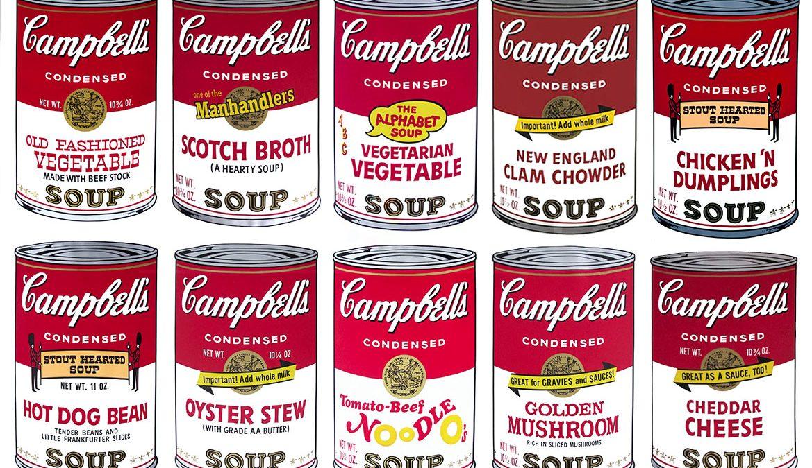 Sopas Campbell serigrafiadas por Andy Warhol. (Foto: Getty)