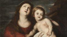 'Virgen con el niño' de Van Dyck encontrado en el museo Cerralbo de Madrid