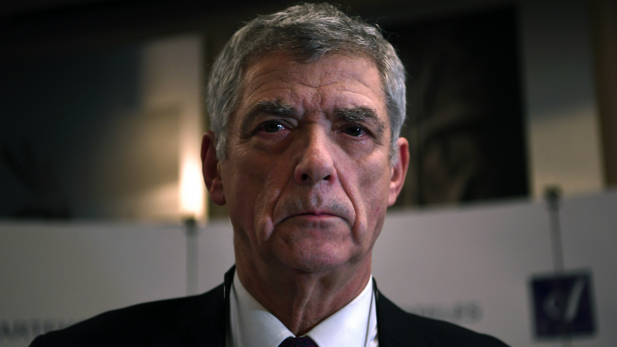 Ángel María Villar dio una conferencia de prensa que duró más de 90 minutos. (AFP)