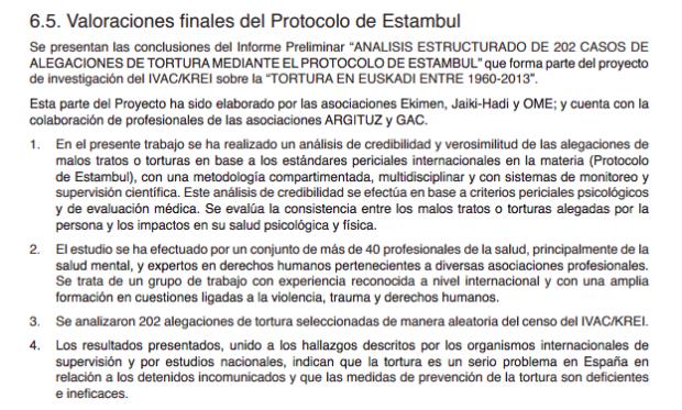 Una asociación proetarra firma el informe con 4.113 supuestos casos de tortura que avala Urkullu