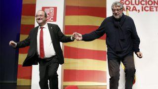 Miquel Iceta con Antoni Balmón (Foto: EFE)