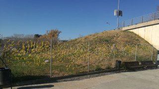 Lazos amarillos en Sant Cugat (Foto: Cs)
