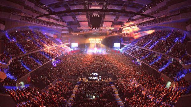 El WiZink Center de Madrid en el concierto de Amaral que llenó por completo el recinto de la Comunidad de Madrid, el antiguo Palacio de Deportes. Foto: WiZink