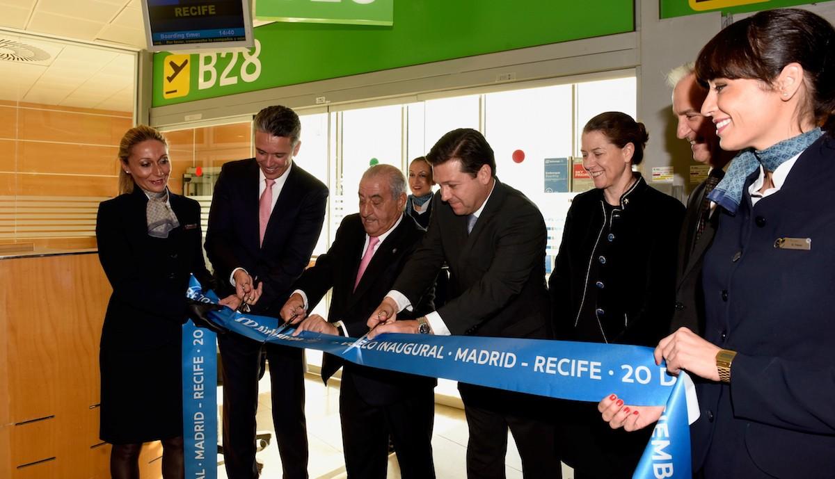 Inauguración de la ruta de Air Europa a Recife. (Foto: Globalia)