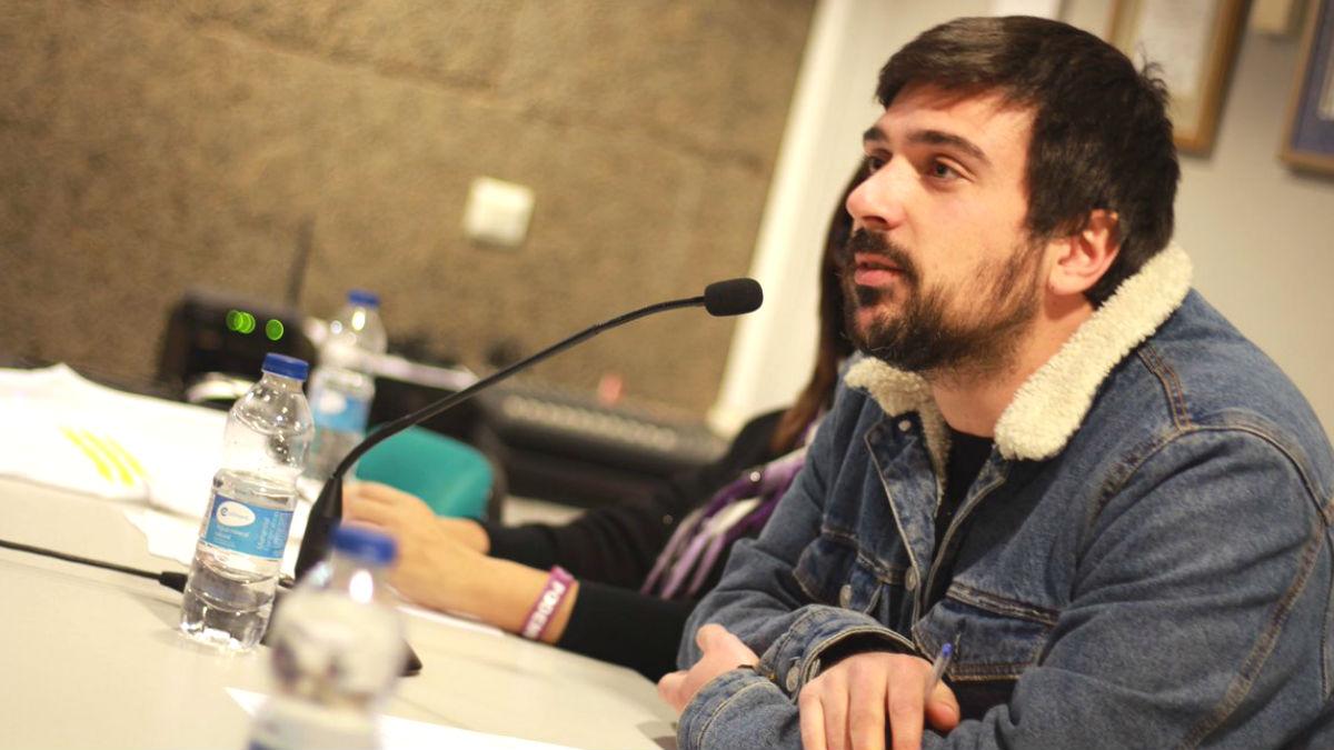 El secretario general de Podemos en la Comunidad de Madrid, Ramón Espinar.