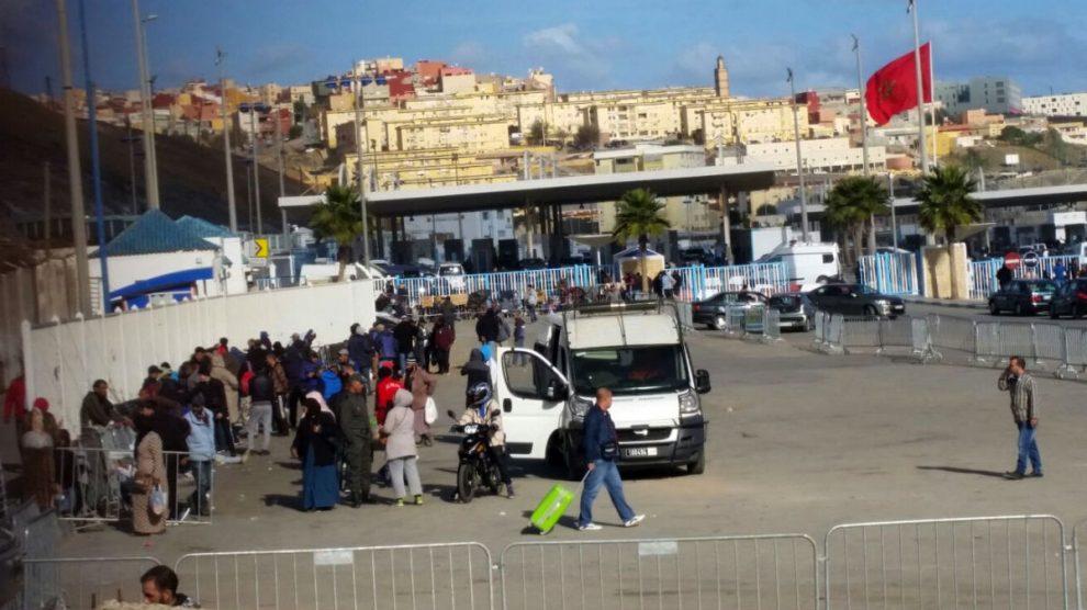 Paso de el Tarajal, en la frontera de Ceuta.