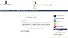 Definición de la RAE de 'posverdad'.
