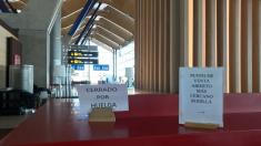 Una cafetería del aeropuerto madrileño de Barajas, durante la pasada huelga el 4 de diciembre (Fuente:CGT)