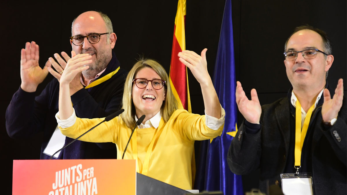 Elsa Artadi, la gran triunfadora de la noche electoral. Foto: AFP
