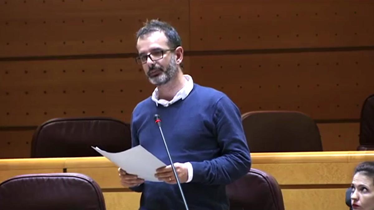 Iñaki Bernal, senador de IU por Navarra integrado en Unidos Podemos.