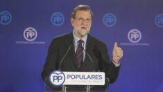 Mariano Rajoy en la cena de Navidad del PP de Madrid. (Foto: Francisco Toledo)