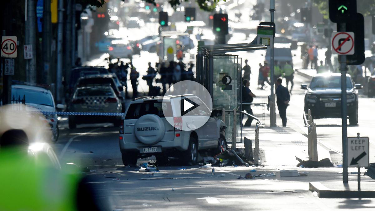 Vehículo usado para el atropello masivo en Melbourne. (Foto: AFP)