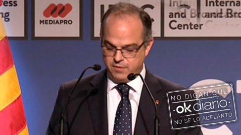 El ex consejero de Presidencia de la Generalitat Jordi Turull.