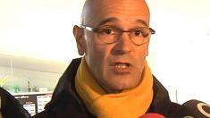 Raül Romeva, tras votar en las elecciones catalanas del 21-D.