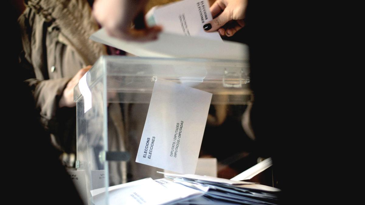 Urna en unas elecciones.
