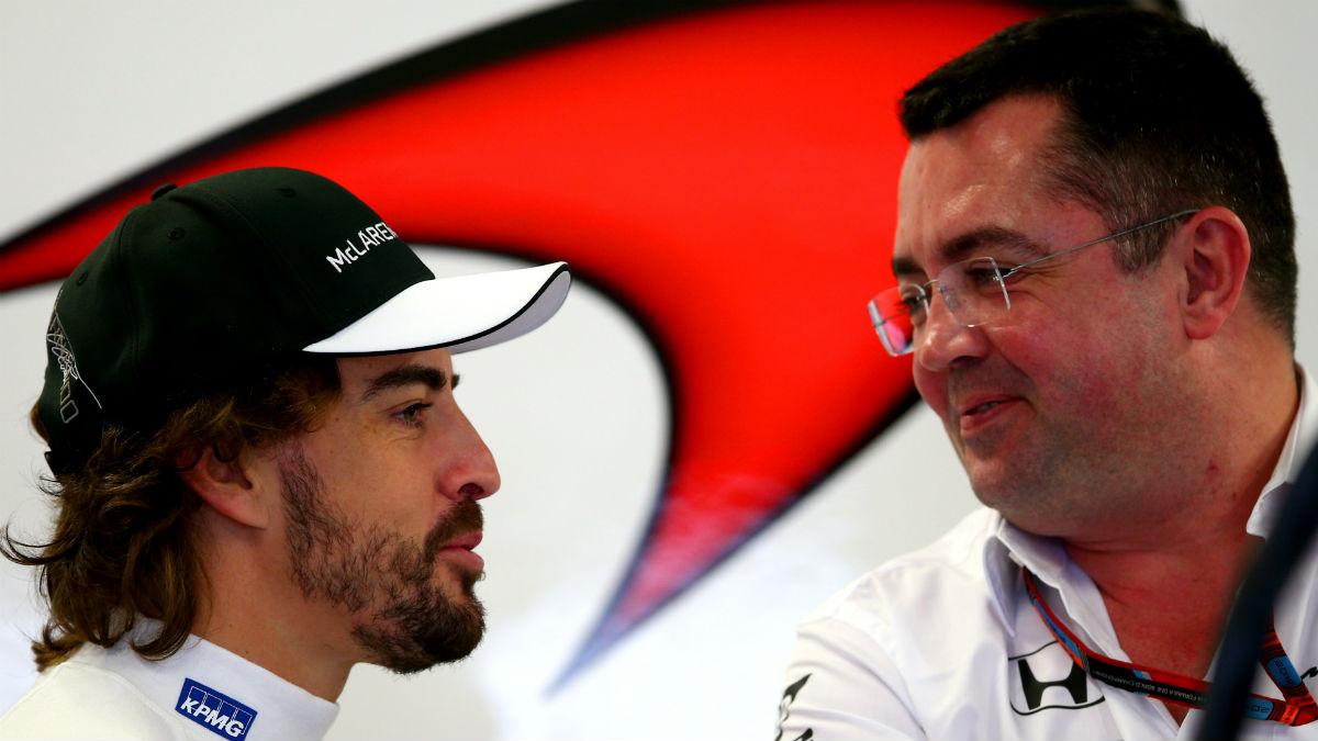 Eric Boullier considera incluso positivo que Fernando Alonso participe en otras categorías además de en la Fórmula 1. (Getty)