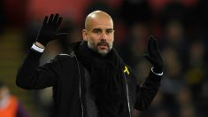 Guardiola, en un partido con el Manchester City. (Getty)