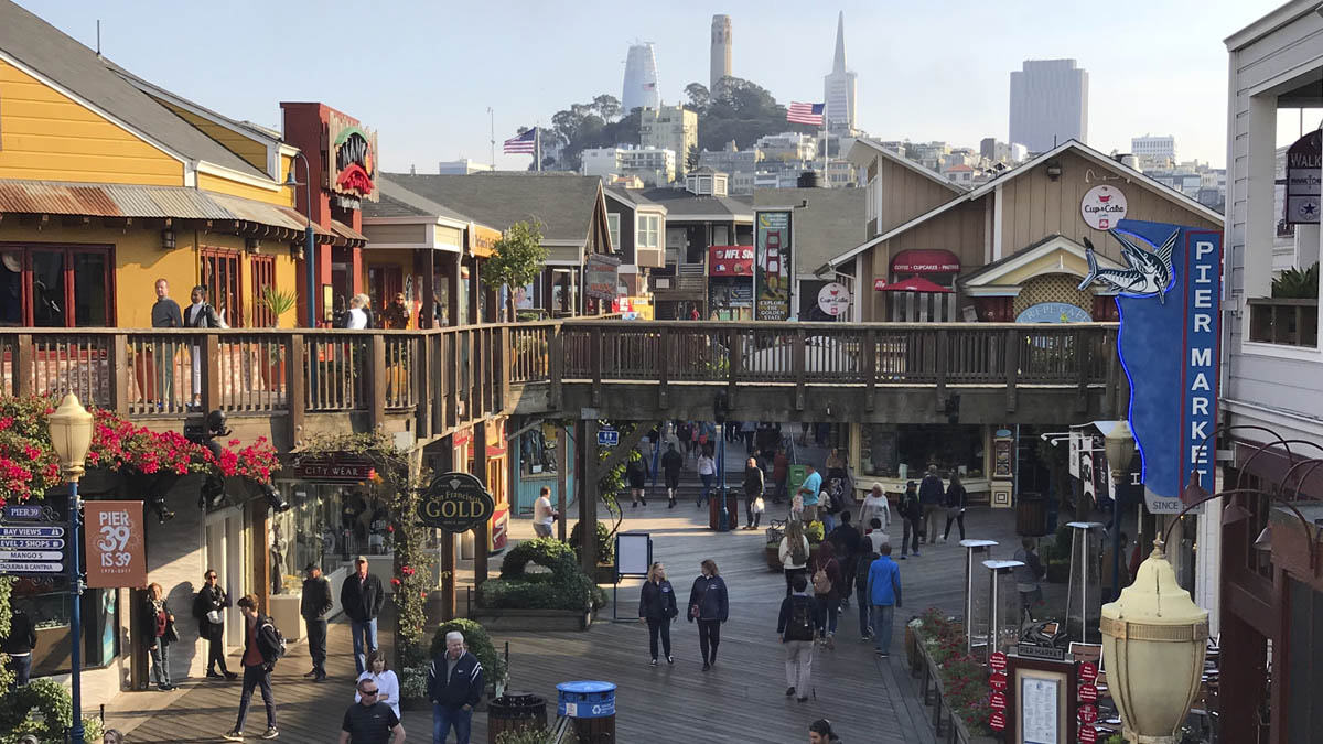 El detenido pretendía atentar en el cocurrido Pier 39 de San Francisco (Foto: AFP)