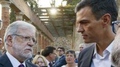 Juan Carlos Rodríguez Ibarra con Pedro Sánchez