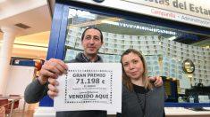 Administración de Torrejón de Ardoz que ha vendido el 'Gordo' de la Lotería de Navidad. (Foto: EFE)