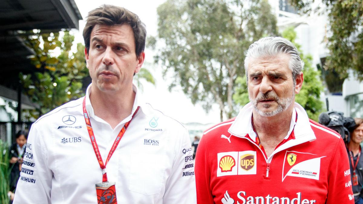 Toto Wolff ha recomendado a los nuevos dueños de la Fórmula 1, Liberty Media, que no provoquen en exceso a Ferrari, ya que sus amenazas de abandono de la competición podrían ser más reales de lo que se piensa. (Getty)
