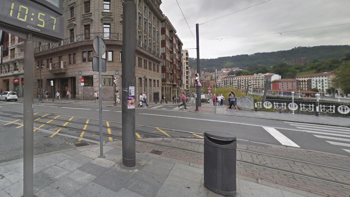 Calle Navarra con Ripa, en Bilbao.