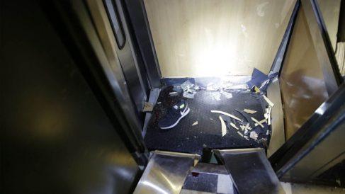 Así quedó el ascensor accidentado (Foto: Bomberos Madrid)