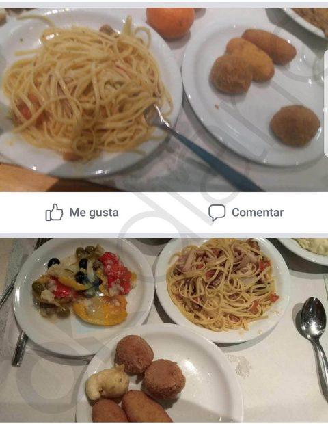El cutre menú de Nochebuena de la Policía en los barcos de Cataluña: unos espaguetis y fritos grasientos