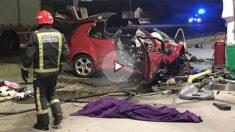 El coche tras el asesinato de Andrea en Benicasim.