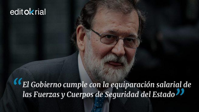 Mérito forzado, pero mérito de Rajoy