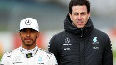 Toto Wolff asegura que el nuevo contrato de Lewis Hamilton con Mercedes será a largo plazo, si bien tendrá ciertas escapatorias por si el piloto decidiera retirarse en un momento dado. (Getty)