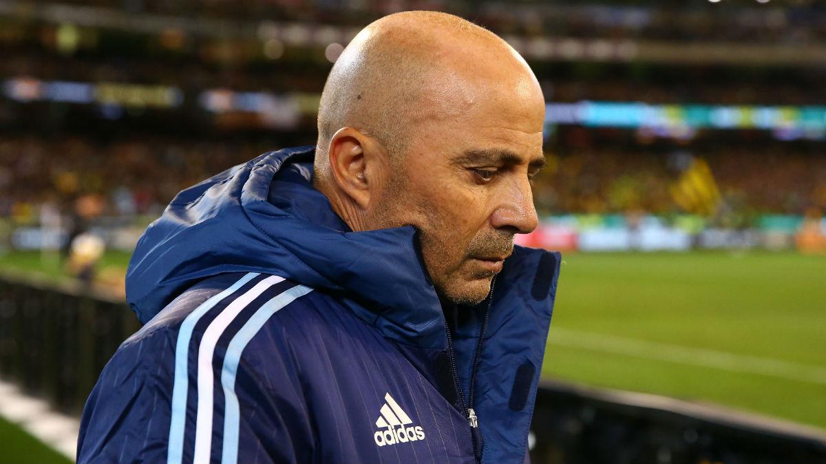 Jorge Sampaoli, en un partido de Argentina. (Getty)
