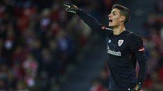 Kepa, en un partido con el Athletic Club de Bilbao. (AFP)