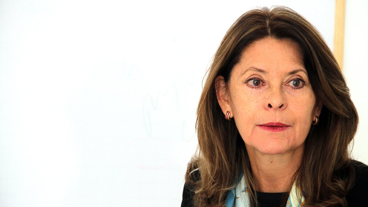 Marta Lucía Ramírez, durante una entrevista con OKDIARIO y la Revista Zeta, en Bogotá. (Foto: E. Falcón)