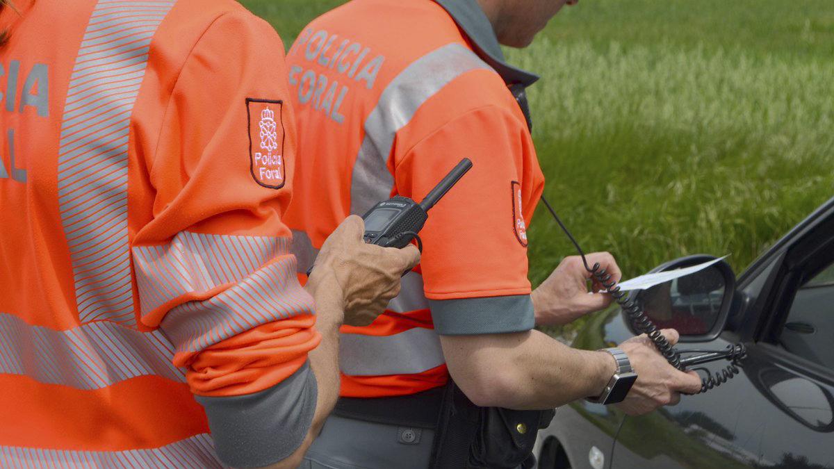 Agentes de la Policía Foral de Navarra.