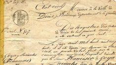 Acta de defunción de Francisco de Goya. (Fuente: Museo del Prado)