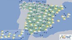 Previsión del tiempo para el jueves 28 de diciembre.