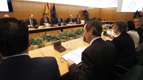 Reunión del Pacto Antiyihadista en el Congreso de los Diputados. (Foto: EFE)