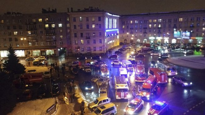 Al menos 10 heridos en la explosión de un bomba en un supermercado de San Petersburgo