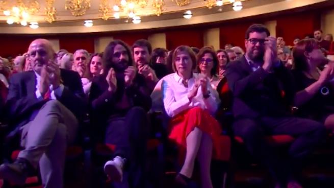 La golpista Forcadell asiste a una gala en Mallorca que premia a los 'Jordis' con dinero público