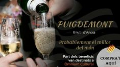 Cartel publicitario del cava Puigdemont