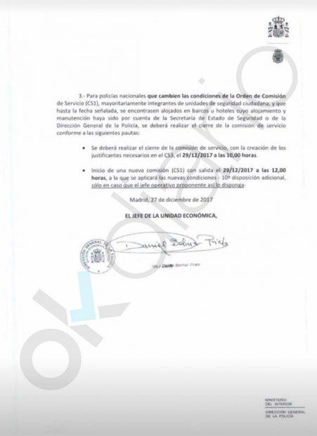 Los policías que se queden en Cataluña dejarán de recibir el plus de la 'Operación Copérnico'