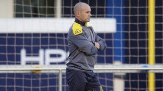 Paco Jémez, durante un entrenamiento con la UD Las Palmas (udlaspalmas.es)