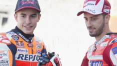 Marc Márquez y Andrea Dovizioso. (Getty)