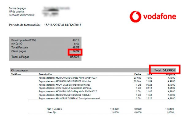 """Un cliente de Vodafone: """"Mi teléfono se ha convertido en una tarjeta de crédito"""""""